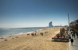 Plaja in Barcelona