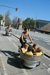 Cu bicicleta in Barcelona
